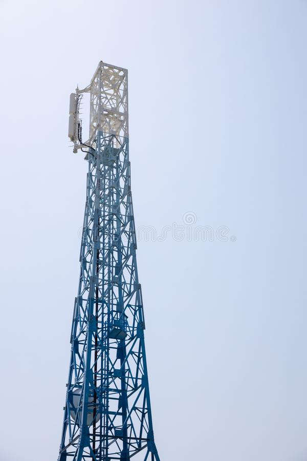 Closeup of a Japan radio telecommunication antenna tower. Close up of a Japan radio telecommunication antenna tower royalty free stock photo