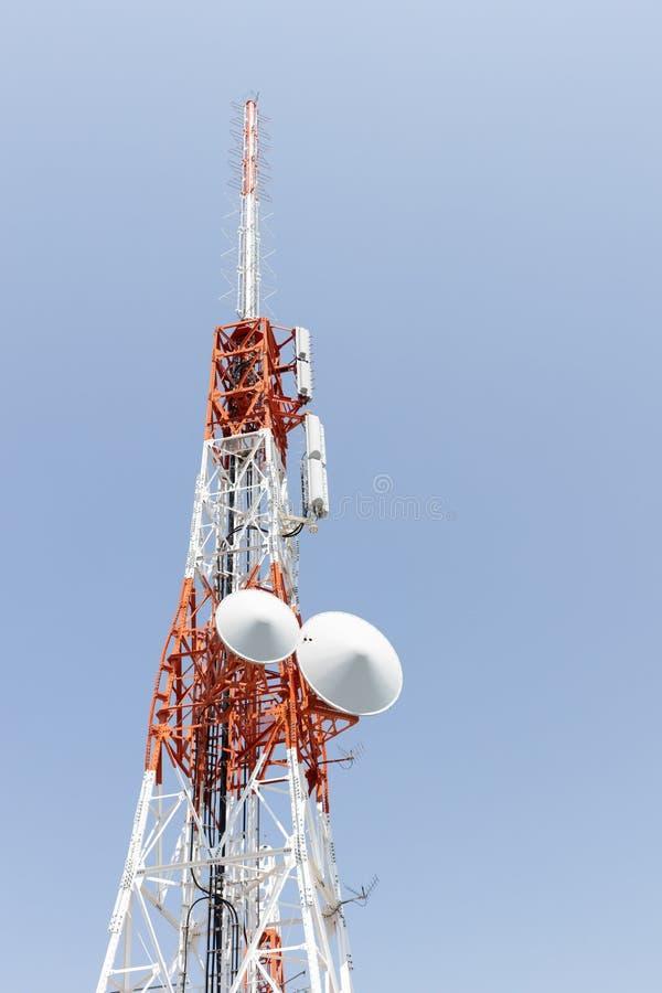 Closeup of a Japan radio telecommunication antenna tower. Close up of a Japan radio telecommunication antenna tower stock photos