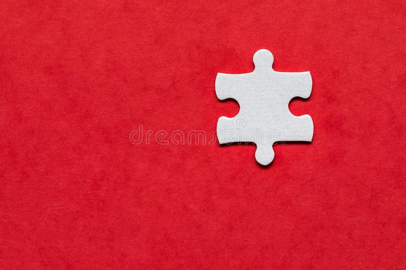 Closeup of jigsaw puzzle . Missing jigsaw puzzle piece, business concept for completing the puzzle piece. Group of puzzle stock image