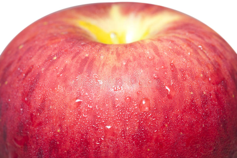Closeup a juicy apple II royalty free stock image