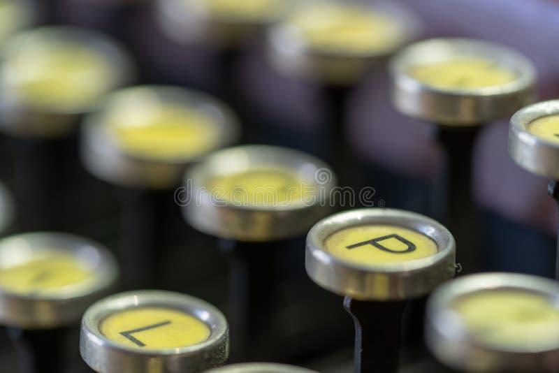 Antique Typewriter Keys stock image