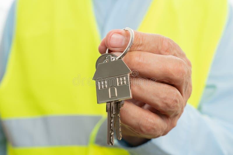 Closeup of keys and keyring royalty free stock photos