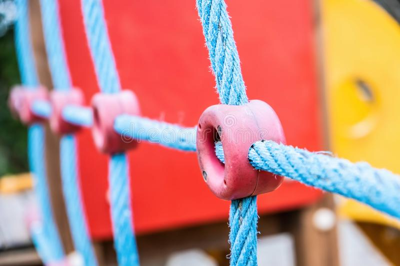 Closeup of kids playground. royalty free stock photography