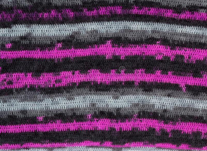 Closeup knitted texture. Colorful knitted background close-up. Knitted pattern royalty free stock images