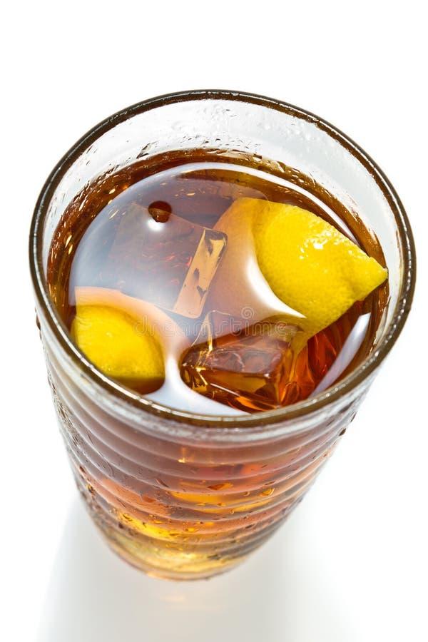Closeup lemon tea with ice stock photos
