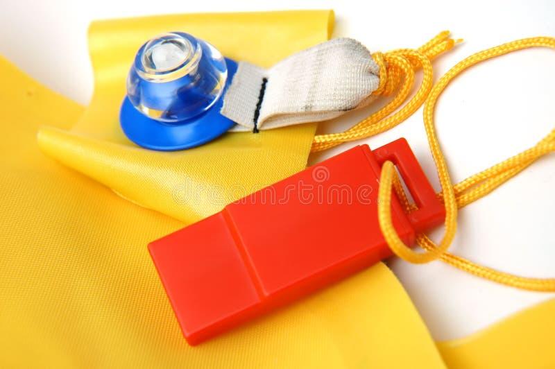 Closeup of life vest. Close up of life jacket royalty free stock photo