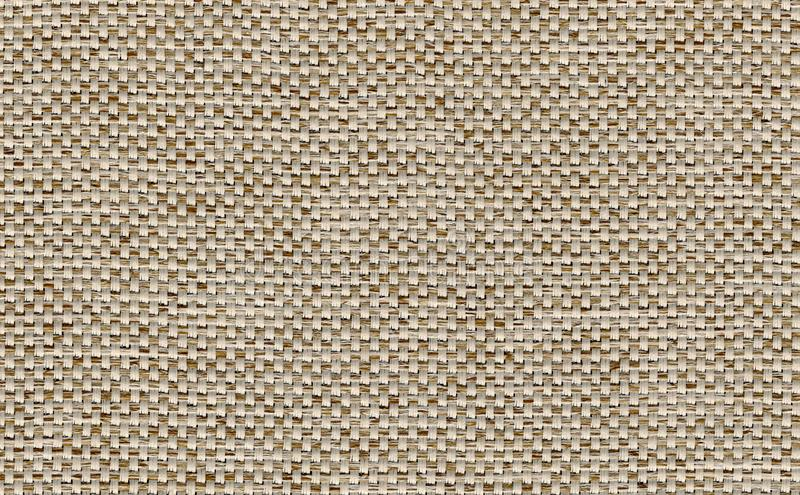 Closeup light brown,biege,yellow color fabric texture. Strip line brown fabric pattern design or upholstery abstract background. Closeup light brown,biege stock photography