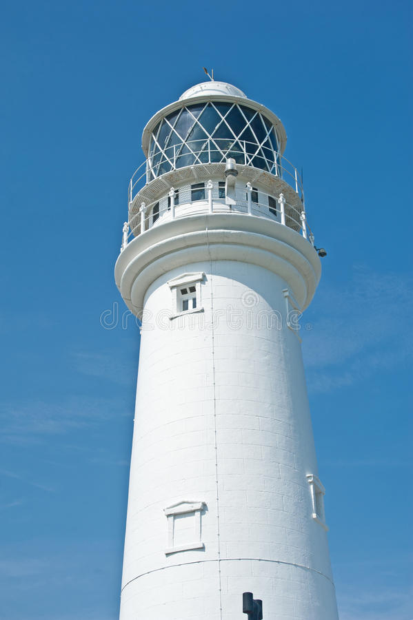 Closeup of a lighthouse