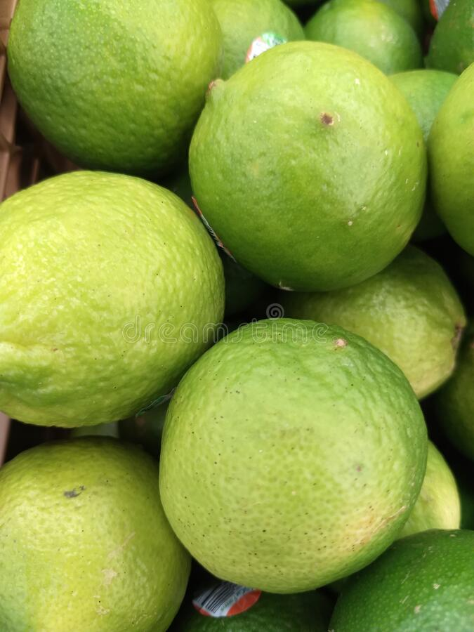 Closeup of Limes. royalty free stock photography