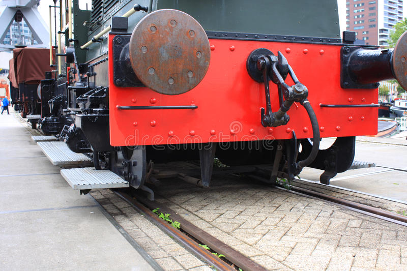Closeup look of old trian in station stock photography