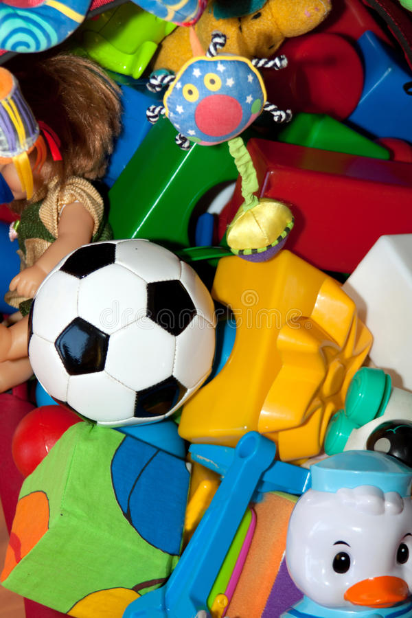 Closeup of the lot of toys royalty free stock photo