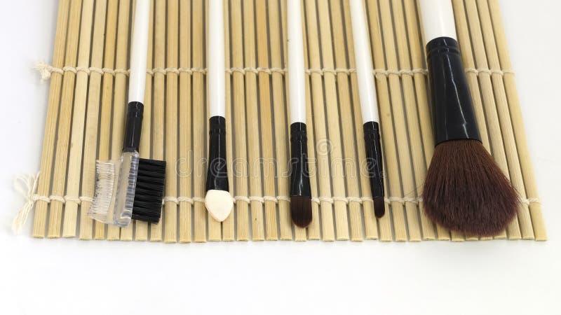 Closeup makeup brushes royalty free stock photos