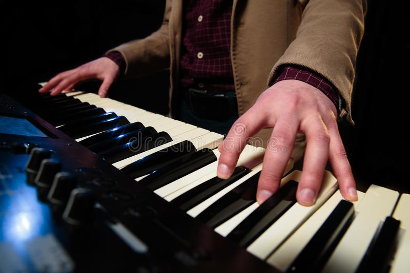 Download Playing keyboard stock image. Image of acoustic, play - 113315089