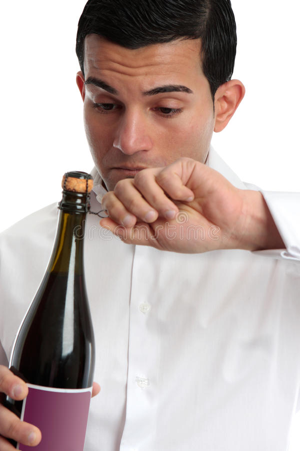 Download Closeup Man Opening Wine Royalty Free Stock Images - Image: 18250789