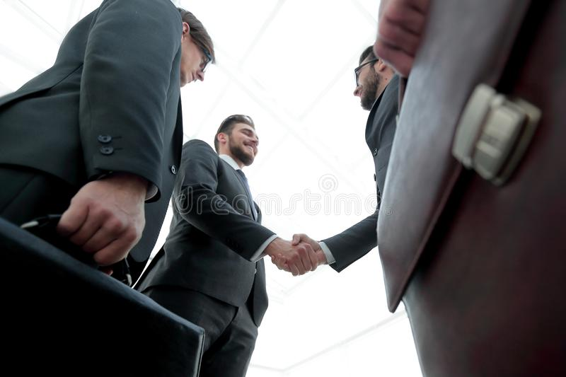 Closeup.meeting business partners. stock images