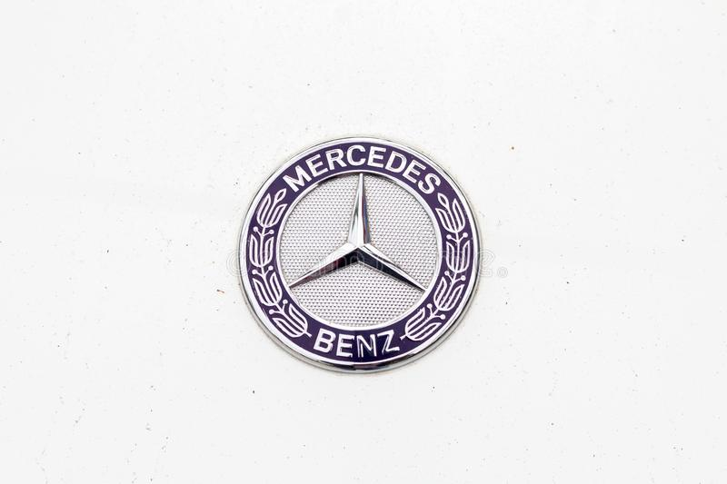 Mercedes Benz logo stock photography