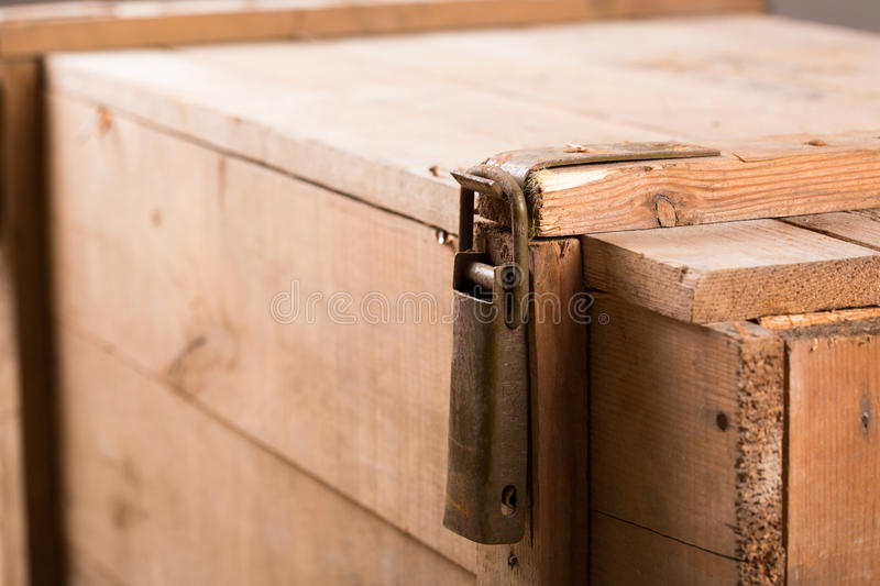Download Latch on old wooden chest stock photo. Image of closed - 30226238