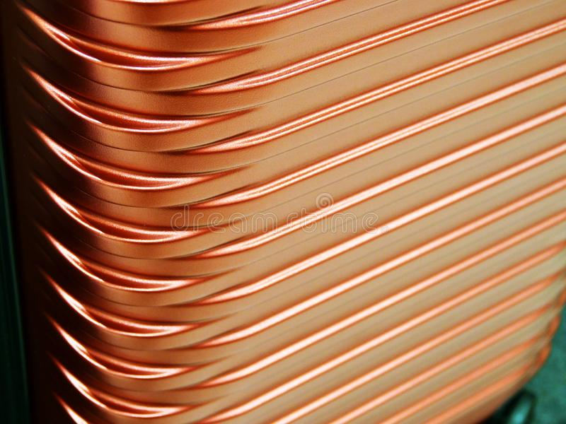 Closeup metallic luggage pattern texture background. Closeup metallic copper luggage pattern texture background royalty free stock image