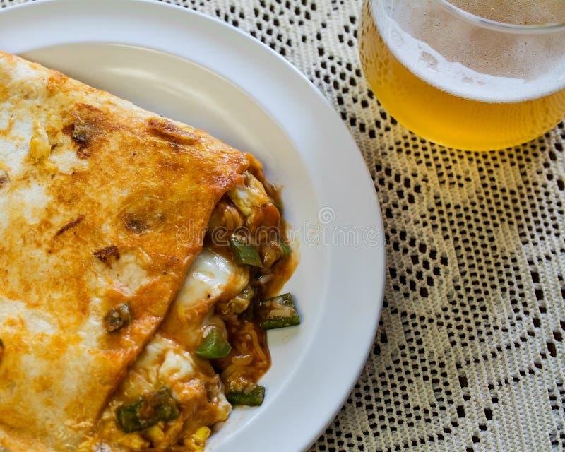 Mexican breakfast quesadilla royalty free stock photo