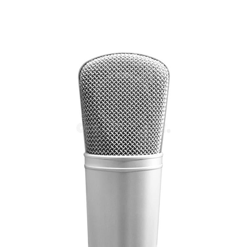 closeup microphone in recording studio royalty free stock photo
