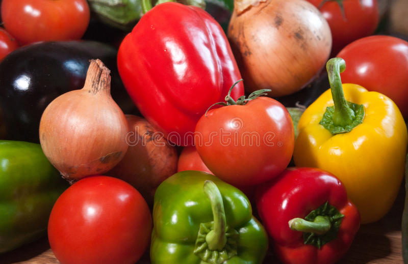 Closeup of mixed vegetables royalty free stock image