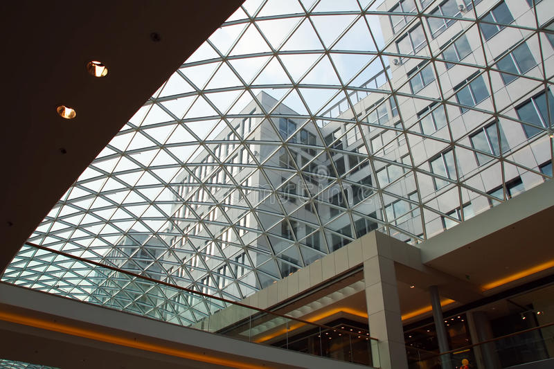 Download Closeup Of Modern Glass Roof Stock Photo - Image: 15472192