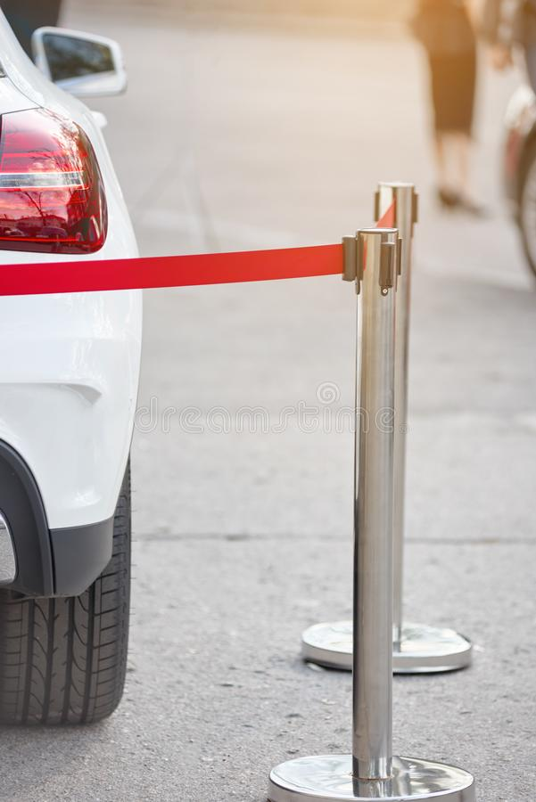 Modern parked car stock photography