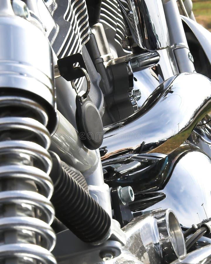 Closeup Motorcycle Chrome Stock Photos