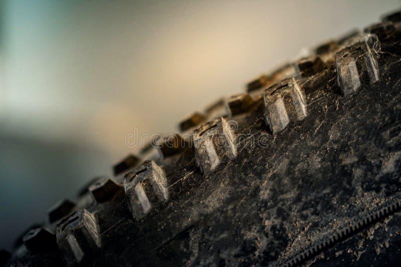 Closeup of Mountain Bike Tire stock image