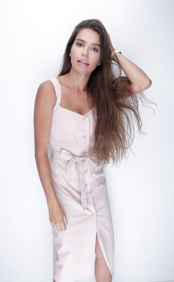 closeup Mulher nova bonita foto de stock