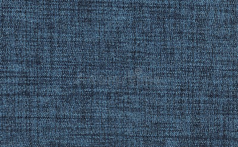 Closeup navy blue color fabric sample texture backdrop. Strip line dark blue,indigo blue fabric pattern design ,upholstery for dec. Oration interior design stock photo