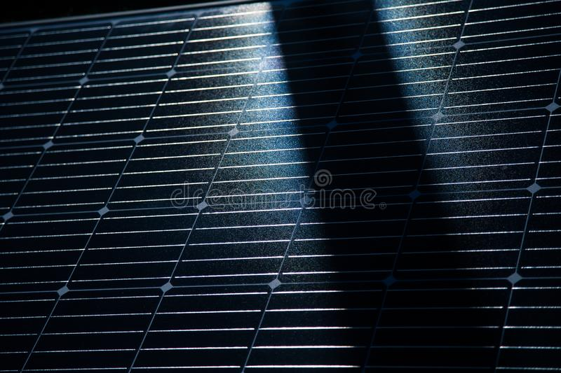 Closeup of a new solar panel. Renewabvle energy, ecological solution. Electricity generation. Clean sun energy stock photography