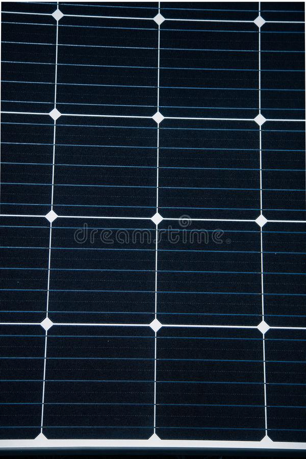 Closeup of a new solar panel. Renewabvle energy, ecological solution. Electricity generation. Clean sun energy royalty free stock photo