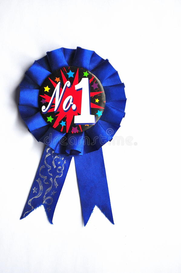 First Prize Blue Ribbon royalty free stock photo