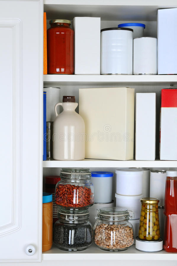 Free Closeup Of A Well Stocked Pantry Stock Photos - 31546983