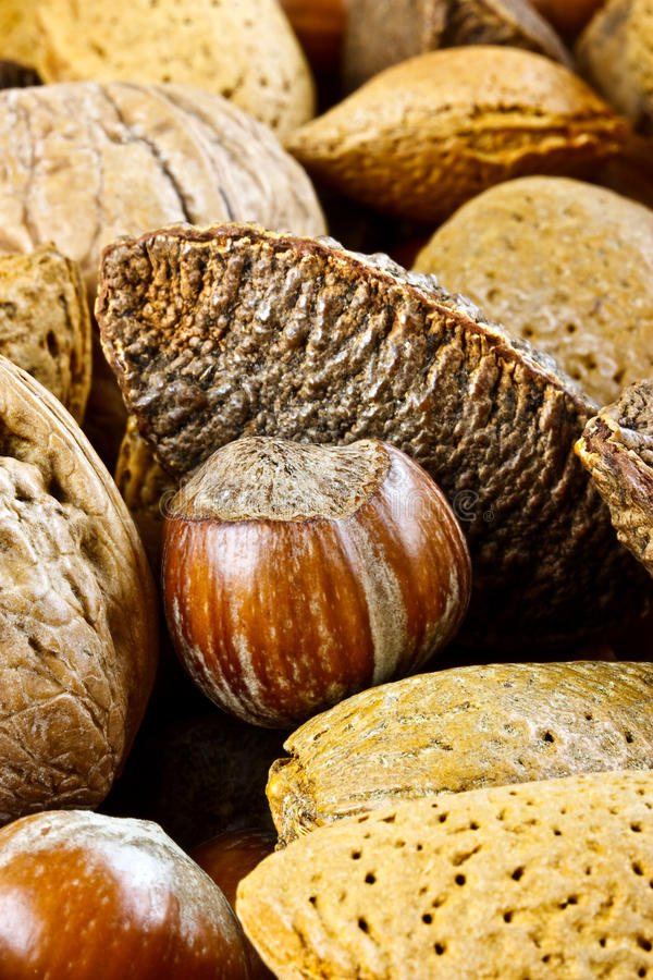 Free Closeup Of Mixed Nuts Royalty Free Stock Image - 28384096