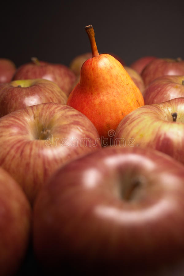 Free Closeup Of Pear And Apples (one Different) Stock Photo - 12673410
