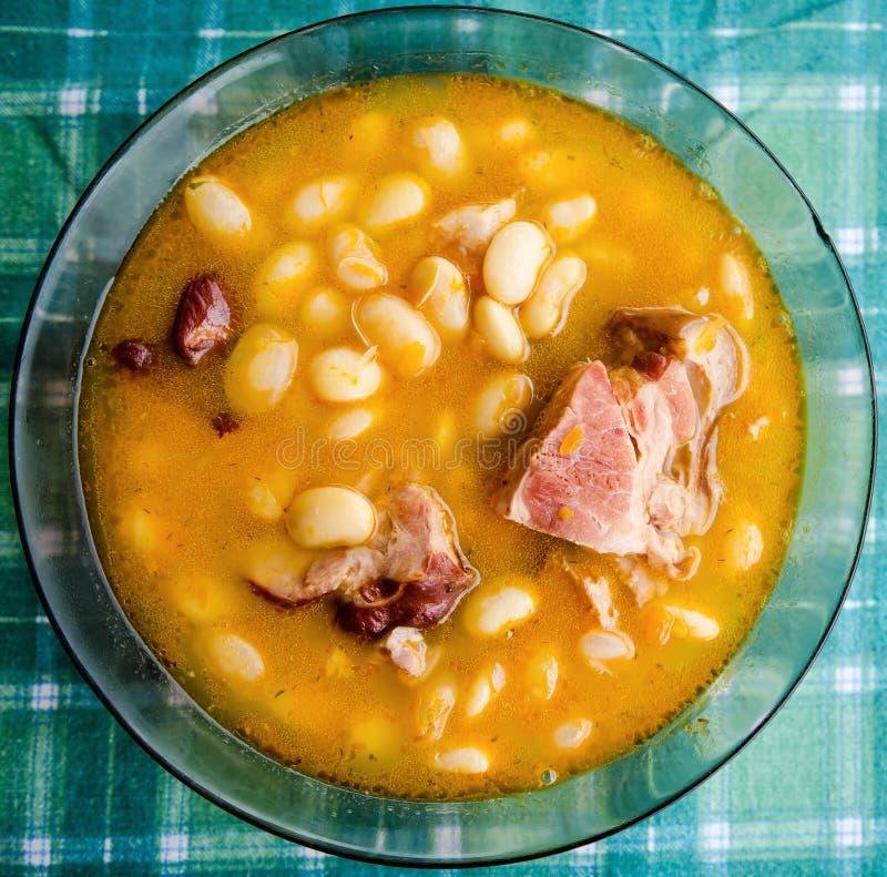 Free Closeup Of White Bean Soup Stock Image - 38643051