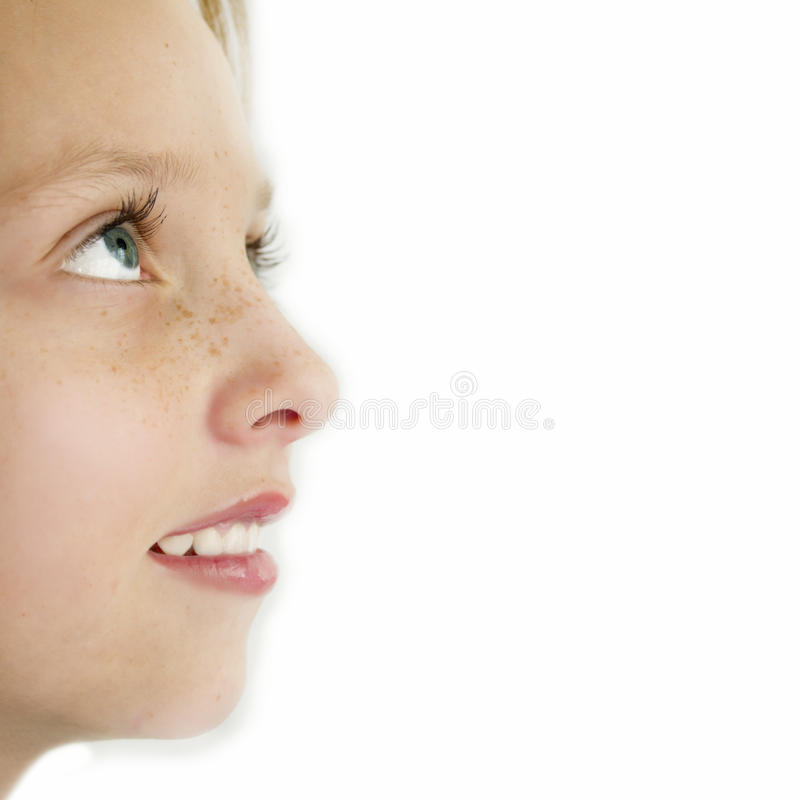 Free Closeup Of Young Girl In Profile Royalty Free Stock Photos - 23043468