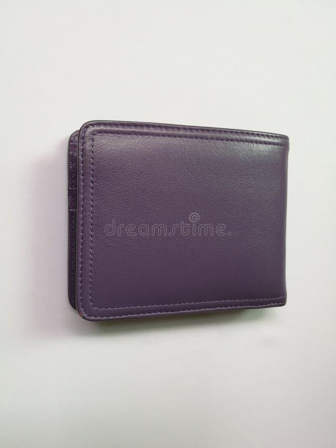 Purple wallet isolated stock photo