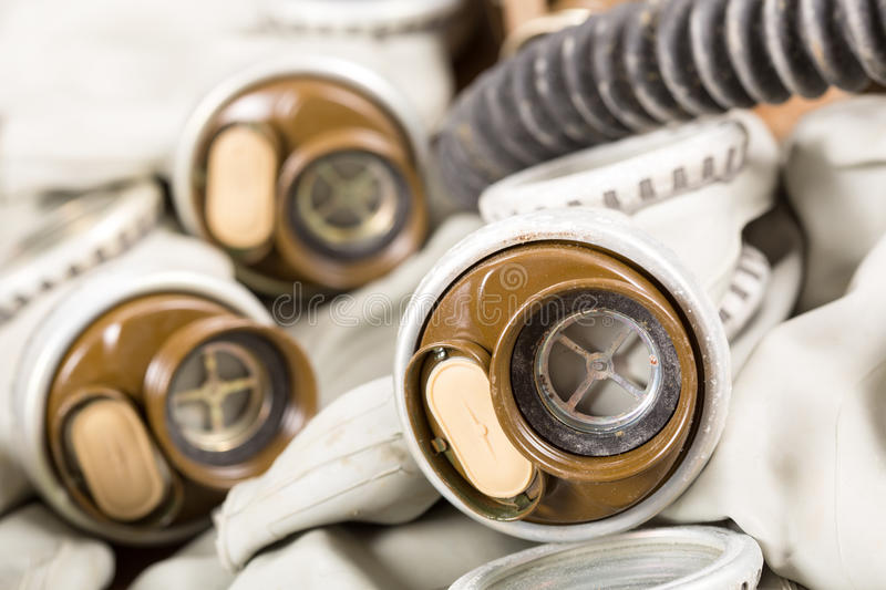 Old Gas Masks Royalty Free Stock Photography