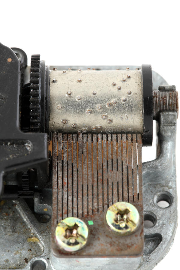 Download Closeup Of Old Music Box Movement Drum And Tines Stock Photos - Image: 12781483