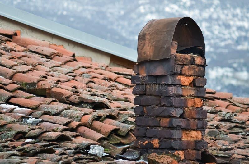 Closeup of a chimney royalty free stock photo