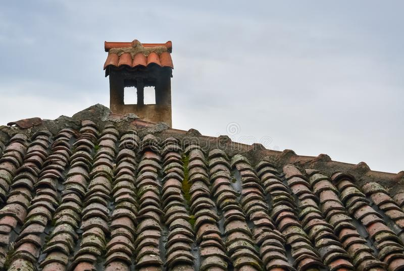 Closeup of a chimney stock images
