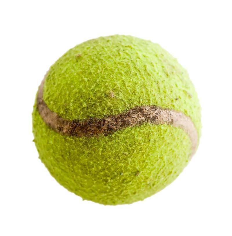 Closeup of an old tennis ball stock photos