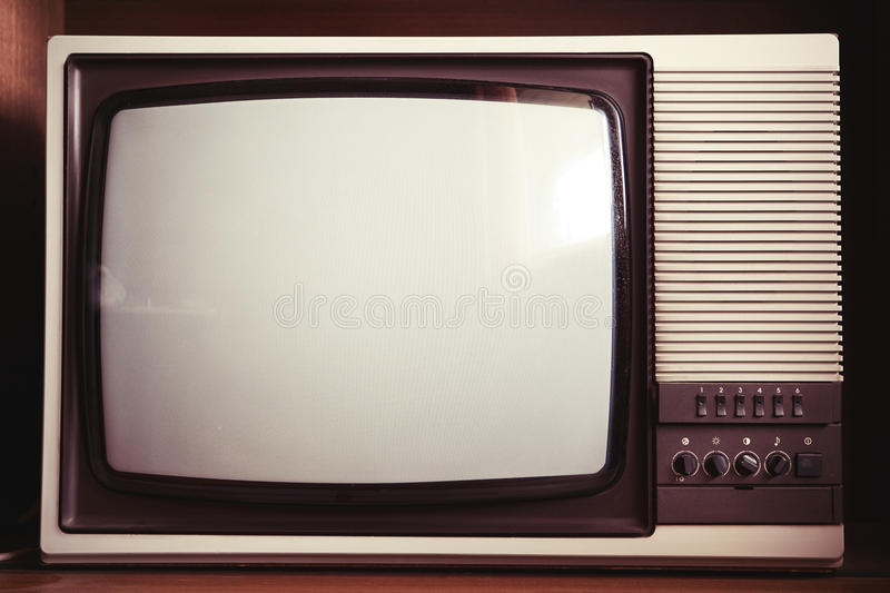closeup of old tv set stock image image of dirty retro 24440197. Black Bedroom Furniture Sets. Home Design Ideas