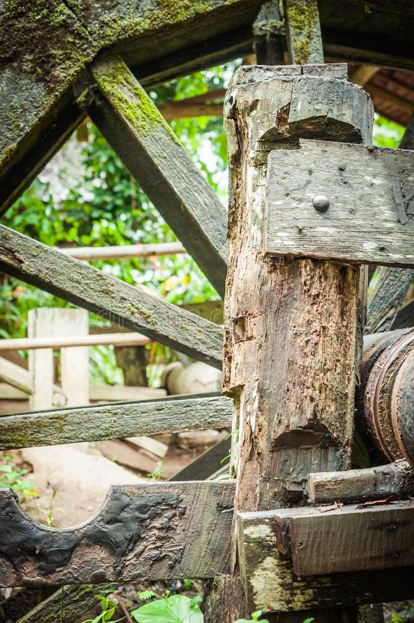 Closeup of Old Wood Turbine. Building stock images