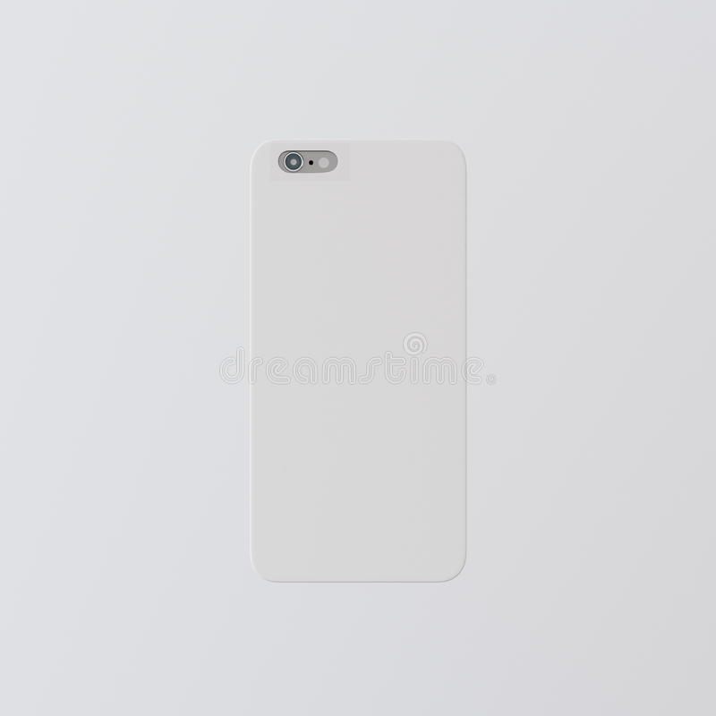 closeup one blank white clean template plastic cover phone case
