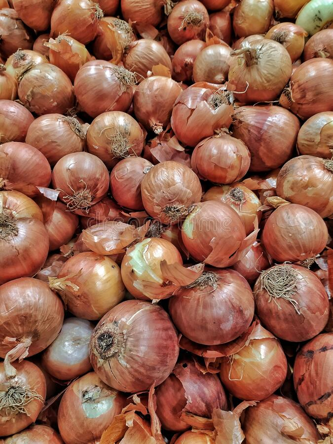 Closeup of onions spread over each other foto de stock