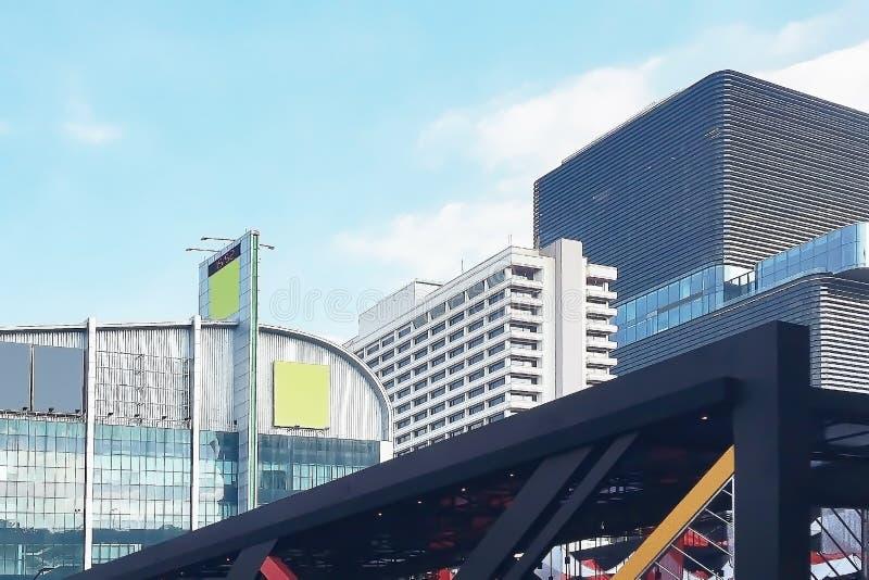 Closeup på härlig arkitektonisk geometriform arkivbild